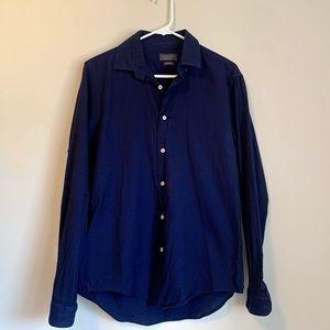 Zara Man Navy Button Down Shirt